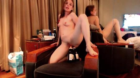 LittleMissKinky - Double Bottle Fuck - Extreme Defecation - Solo, Scat [FullHD 1080p]