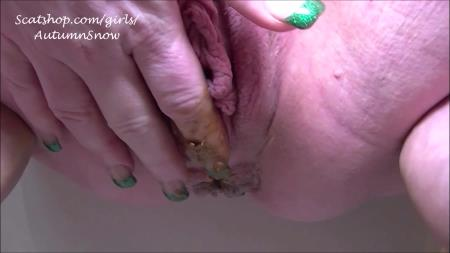 Autumn's Awesome Shit - 3 Pushing Grunting Shits Then Cum - Scatting - Big pile, Solo [HD 720p]