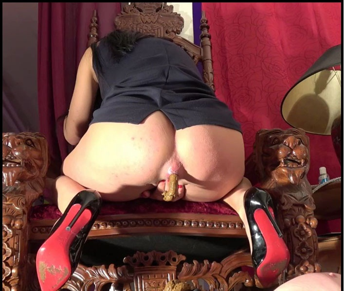 Scat mistress toilet slave humiliation and femdom scat