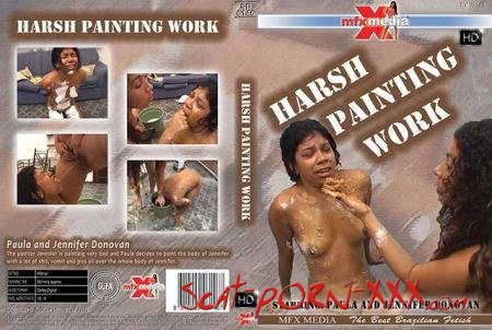 Paula, Jennifer Donovan - MFX-6146 Harsh Painting Work - MFX Media - Lesbian, Vomit [HDRip]