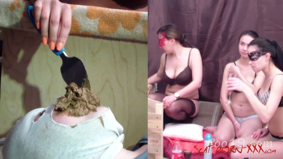 Smelly Milana - Comfortable live toilet for 3 princesses - Smearing - Defecation, Femdom [FullHD 1080p]