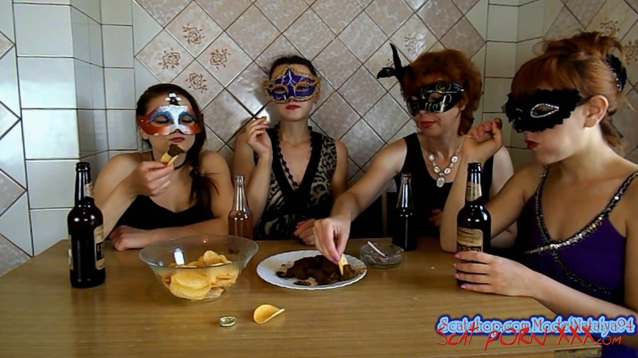 ModelNatalya94 - The morning Breakfast the four girls - Threesome Scat - Amateur, Milf [FullHD 1080p]