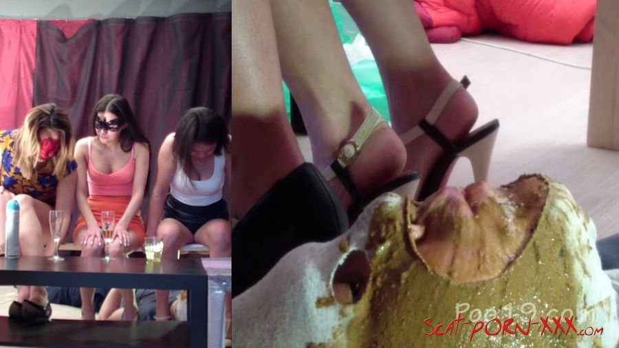 MilanaSmelly - Group use of female toilet slave - Femdom Scat - Humiliation, Face Sitting [HD 720p]