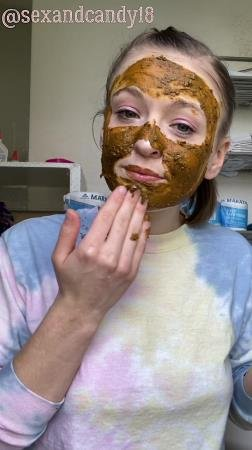 sexandcandy18 - Teen's first diaper fill + face mask! - Scatting - Amateur, Young [UltraHD 2K]